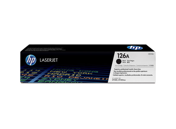 HP TONER BLACK 126A PRINT CARTRIDGE CE310A, HP TONER CYAN 126A PRINT CARTRIDGE CE311A, HP TONER YELLOW 126A PRINT CARTRIDGE CE312A, HP TONER MAGENTA 126A PRINT CARTRIDGE CE313A