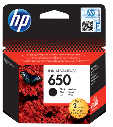 HP INK 650 BLACK CARTRIDGE CZ101AE