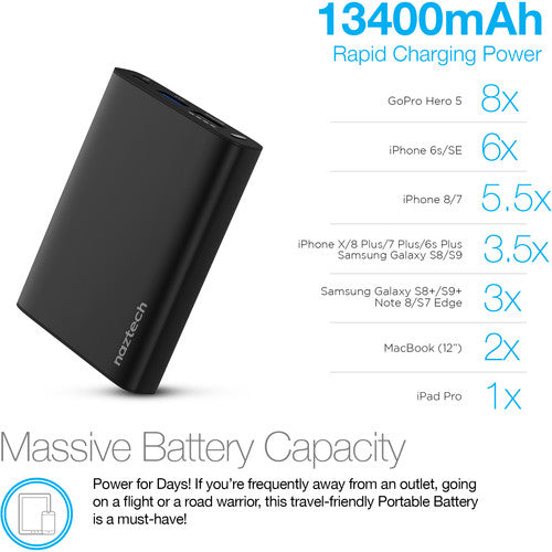 NAZTECH 18W USB-C 13400 PD PORTABLE CHARGER 14497