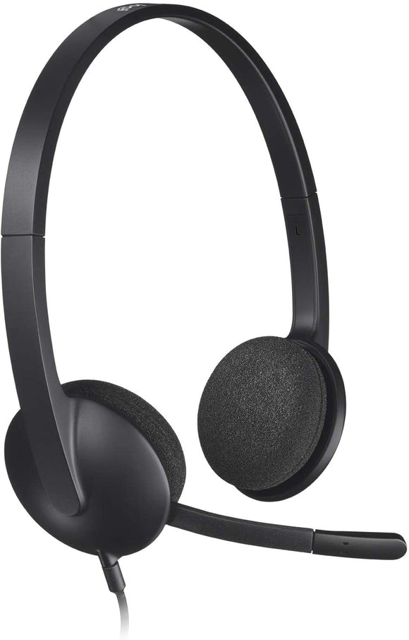 LOGITECH HEADSET USB WITH MICROPHONE H340