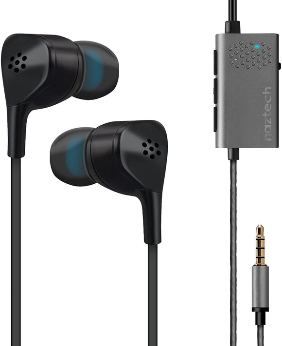 NAZTECH X1ANC EARPHONES 14509 ACTIVE NOISE CANCELLATION
