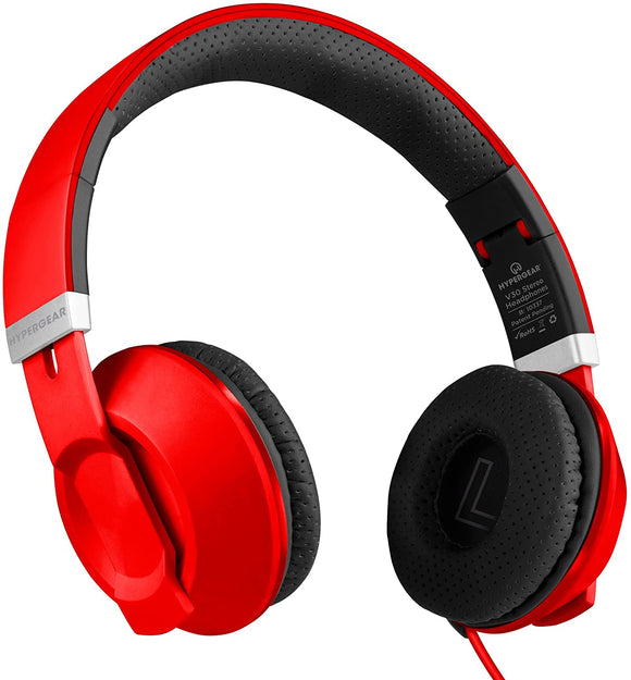 HYPERGEAR V30 HEADPHONES RED 13986, BLUE 13987