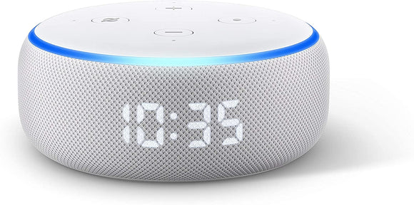 ALEXA ECHO DOT (3RD GEN) WITH CLOCK- SANDSTONE B07N8RPRF7