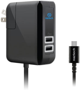 Naztech Powerhouse N422 TRiO Wall Charger with Micro USB AC Cable, 4800mA charges 3 devices at once. Compatible for iPhone, MacBook, iPad, Samsung