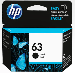 HP INK 63 BLACK  ZHC63