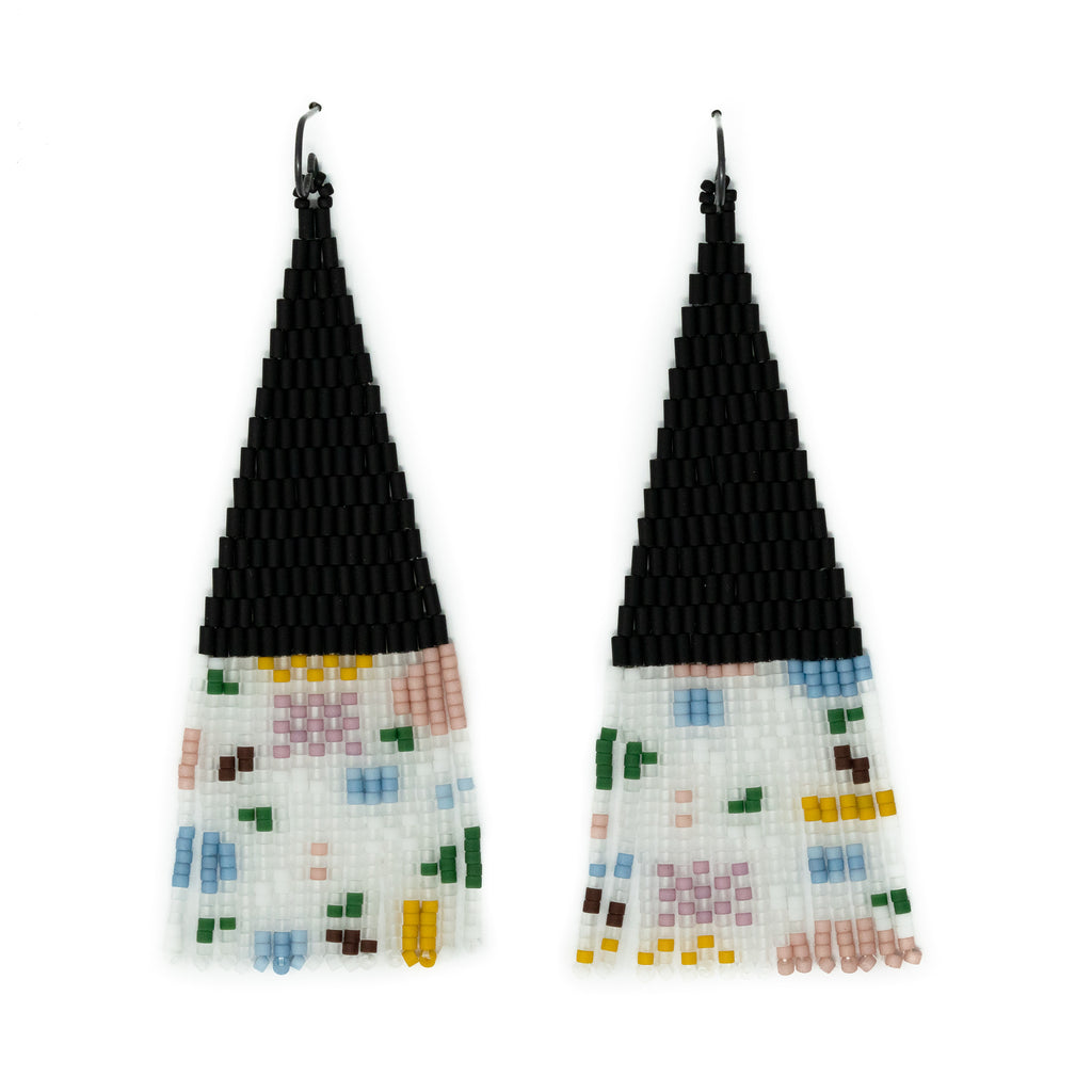 Shapes Hand Beaded Earrings