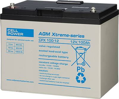 Cellpower 100Ah 12V Extreme Cyclic Battery