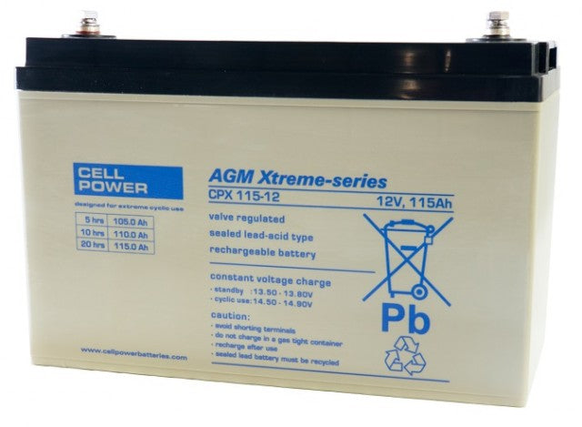 Cellpower 115Ah 12V Extreme Cyclic Battery