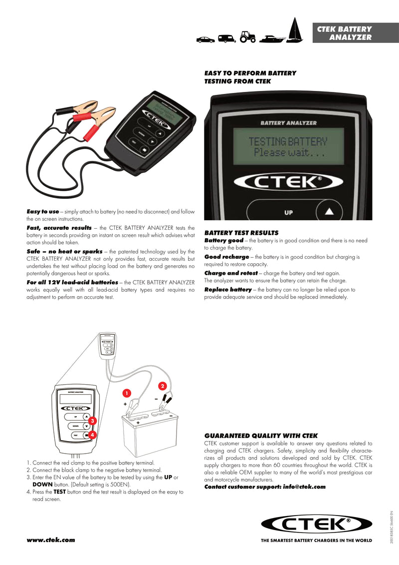 Ctek Battery Analyzer