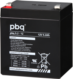 Pbq 5.2 Amp 12 Volt Gen Purpose Battery