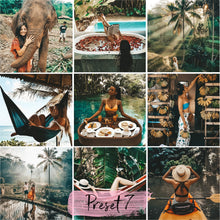 Load image into Gallery viewer, 7 Mobile Lightroom Presets BALI instagram presets and blogger presets | presets portrait and summer preset - KatManDooPRESETS