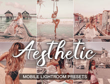 Load image into Gallery viewer, 7 Mobile Lightroom Presets AESTHETIC instagram presets and light room presets | beach presets and blogger presets | warm presets mobile - KatManDooPRESETS