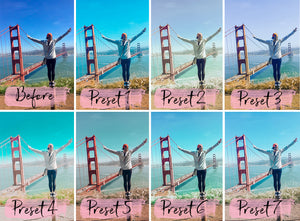 7 Mobile Lightroom Presets FRESH instagram presets and blogger preset | mobile presets and photo filter | beach presets - KatManDooPRESETS