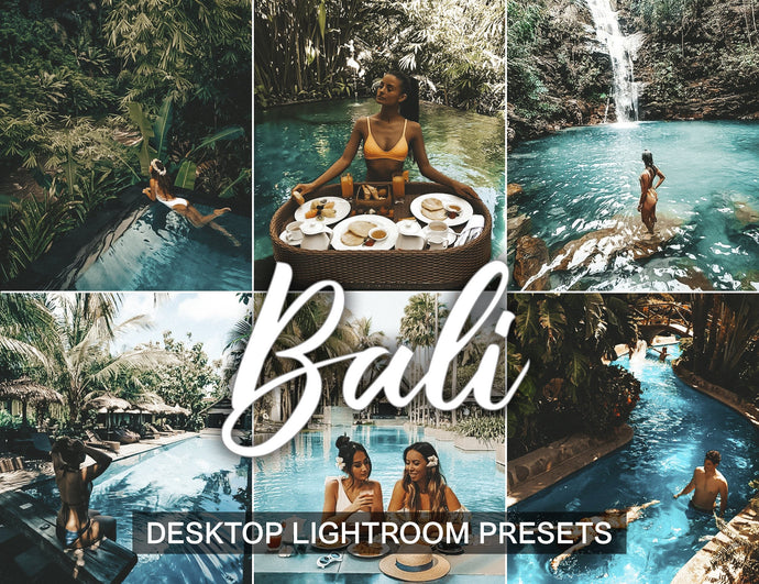 7 Desktop Lightroom Presets BALI instagram presets | tropical preset and vacation preset | preset for lightroom - KatManDooPRESETS