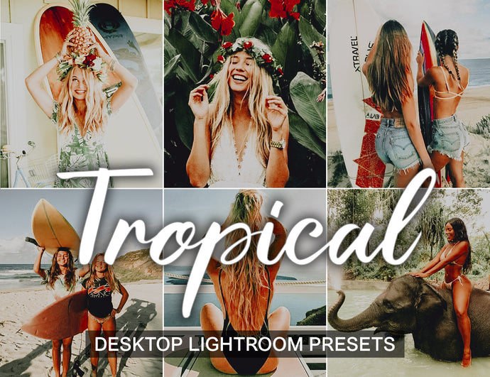 5 Lightroom Desktop Presets TROPICAL - KatManDooPRESETS