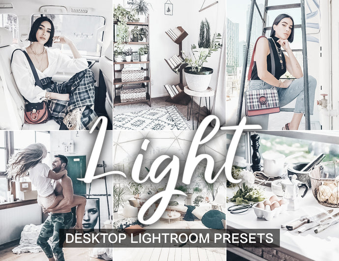 5 Desktop Lightroom Presets LIGHT Lightroom Desktop Presets and instagram presets | beach presets and warm presets | influencer presets - KatManDooPRESETS