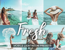 Load image into Gallery viewer, 7 Mobile Lightroom Presets FRESH instagram presets and blogger preset | mobile presets and photo filter | beach presets - KatManDooPRESETS