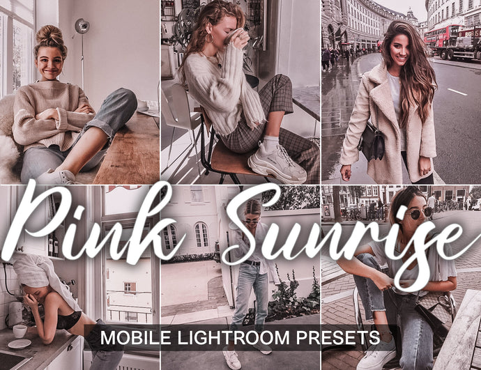 3 Lightroom Presets - Pink Sunrise - mobile lightroom presets - KatManDooPRESETS