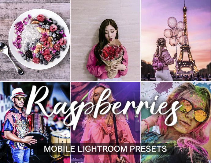 3 Lightroom Presets Raspberries - KatManDooPRESETS