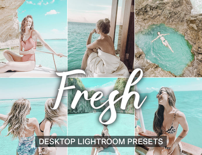 7 Lightroom Presets Desktop FRESH instagram presets and blogger presets | beach presets and lightroom cc presets - KatManDooPRESETS