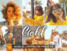 Load image into Gallery viewer, 10 Mobile Presets GOLD - KatManDooPRESETS