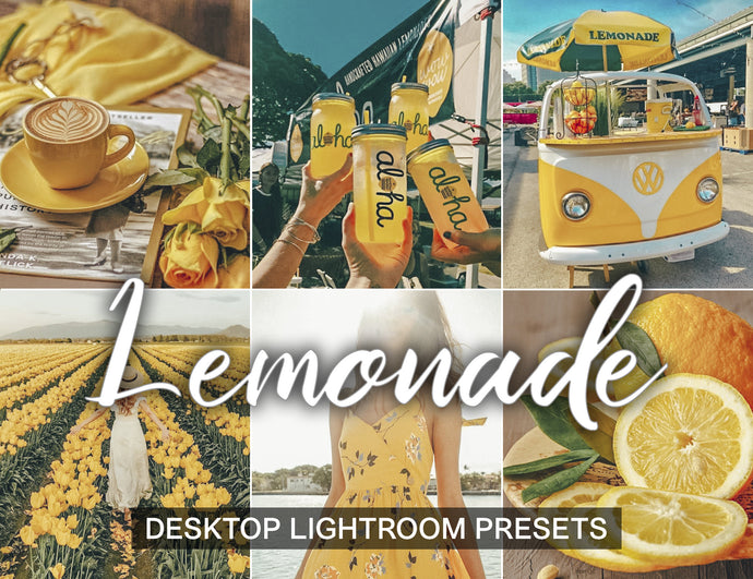 5 Lightroom Desktop Presets LEMONADE - KatManDooPRESETS