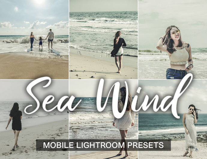 3 Lightroom Presets Sea Wind - Mobile Preset - KatManDooPRESETS