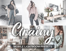 Load image into Gallery viewer, 15 Presets Mobile GRAINY - KatManDooPRESETS