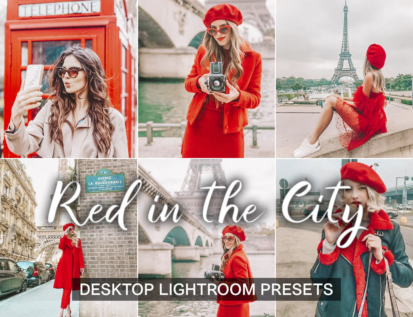 15 Presets Desktop Red in the City - KatManDooPRESETS