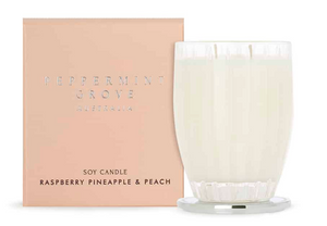 Peppermint Grove Raspberry Pineapple & Peach Diffuser & Soy Candle