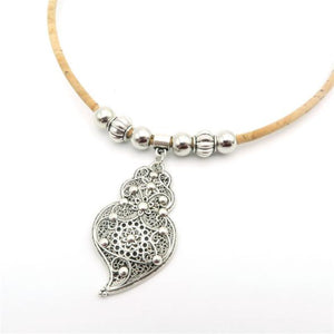 Necklace w/Small Heart of Viana Pendant
