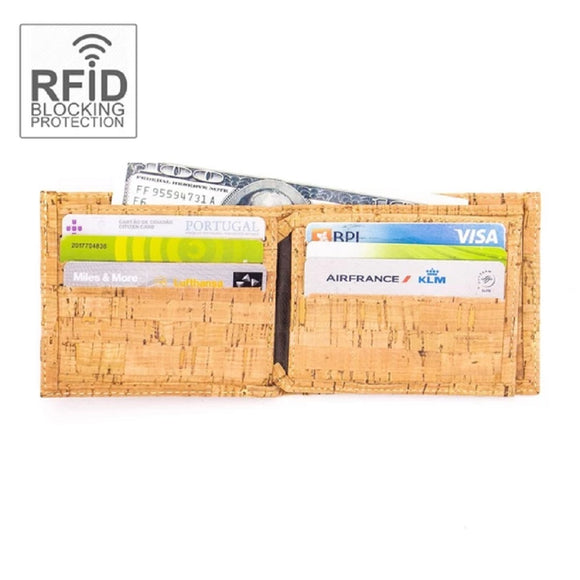 Cork Men Wallet RFID