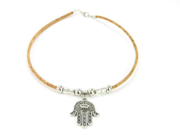 Necklace w/Hand of Fatima (Hamsa) Pendant