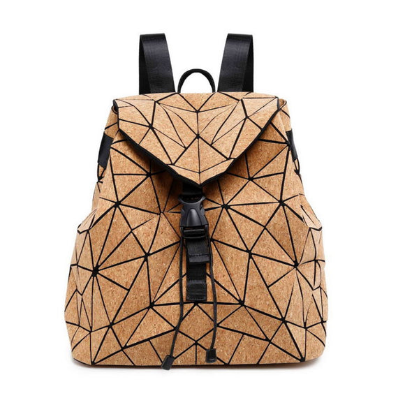 Geometric Cork Backpack
