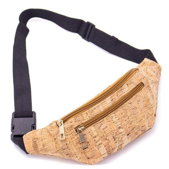 Cork Fanny Bag Pouch Bag Natural Vegan Organic Sustainable Plant Based US SELLER Free return waterproof lightweight