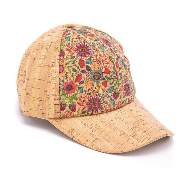 Cork Baseball Hat w/Pattern