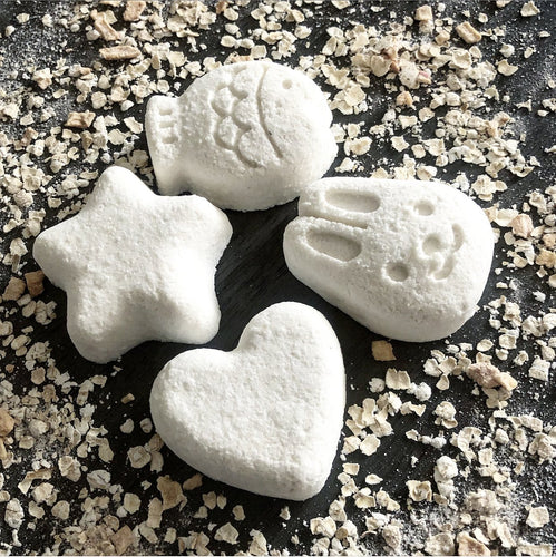 Colloidal Oatmeal Fragrance Free Mini Bath Bombs - Hotsy Totsy Haus