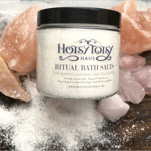Ritual Bath Salts Aura Cleansing and Relaxation 16 oz.