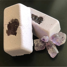 Load image into Gallery viewer, BRICK Full Moon Amethyst Ultimate Self Care Coconut Milk Bath Bomb