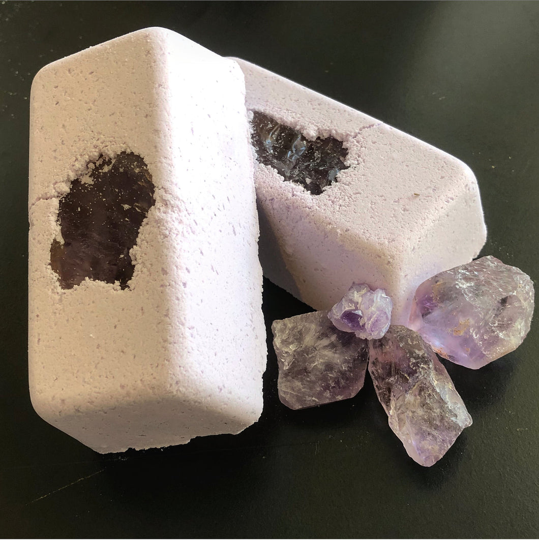 BRICK Full Moon Amethyst Ultimate Self Care Coconut Milk Bath Bomb