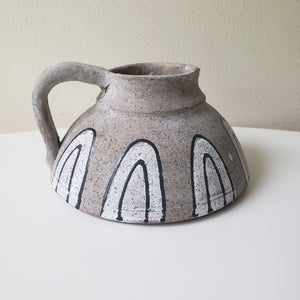 Hand Painted Terra-cotta Pitcher