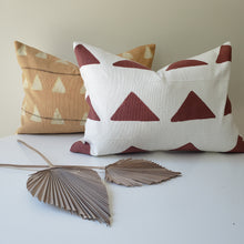 Load image into Gallery viewer, Maroon Block Printed Pillow