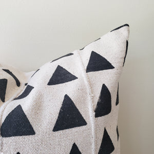 Triangle Block Printed Pillow