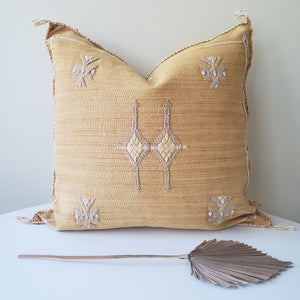 Orange Blossom Cactus Silk Pillow