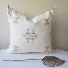 Load image into Gallery viewer, Pearl White Sabra Silk Pillow