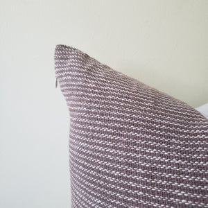 Brown & Cream Striped Pillow