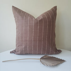 Auburn Brown Striped Changmai Pillow