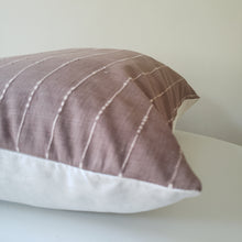 Load image into Gallery viewer, Auburn Brown Striped Changmai Pillow