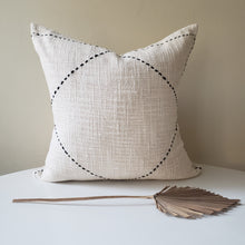 Load image into Gallery viewer, Cream & Black Striped Pillow