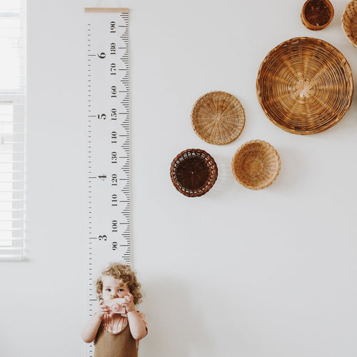 Wood and Canvas Growth Chart